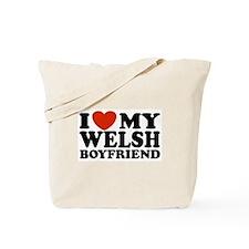 I Love My Welsh Boyfriend Tote Bag