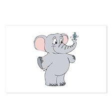 Elephant with Dreidel Postcards (Package of 8)