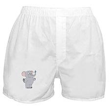 Elephant with Dreidel Boxer Shorts