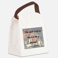 The Devil Is Not As Black - Dante Canvas Lunch Bag