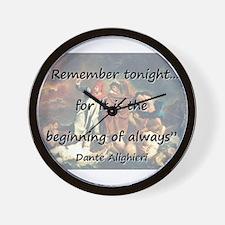 Remember Tonight - Dante Wall Clock