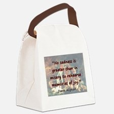 No Sadness Is Greater - Dante Canvas Lunch Bag
