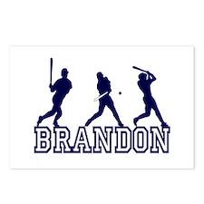Baseball Brandon Personalized Postcards (Package o