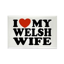 I Love My Welsh Wife Rectangle Magnet