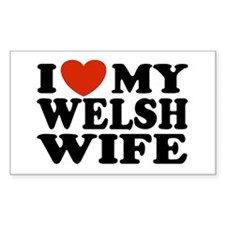 I Love My Welsh Wife Rectangle Decal