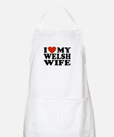 I Love My Welsh Wife BBQ Apron