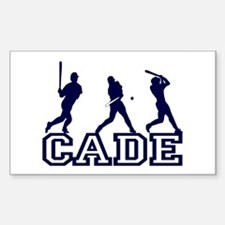 Baseball Cade Personalized Rectangle Decal