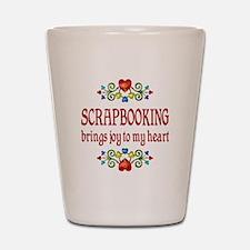 Scrapbooking Joy Shot Glass