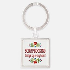 Scrapbooking Joy Square Keychain