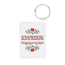 Scrapbooking Joy Aluminum Photo Keychain