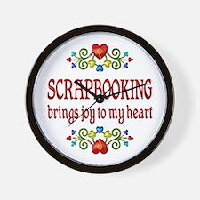Scrapbooking Joy Wall Clock