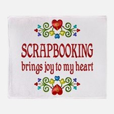 Scrapbooking Joy Throw Blanket