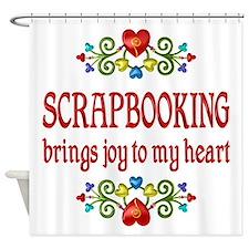 Scrapbooking Joy Shower Curtain