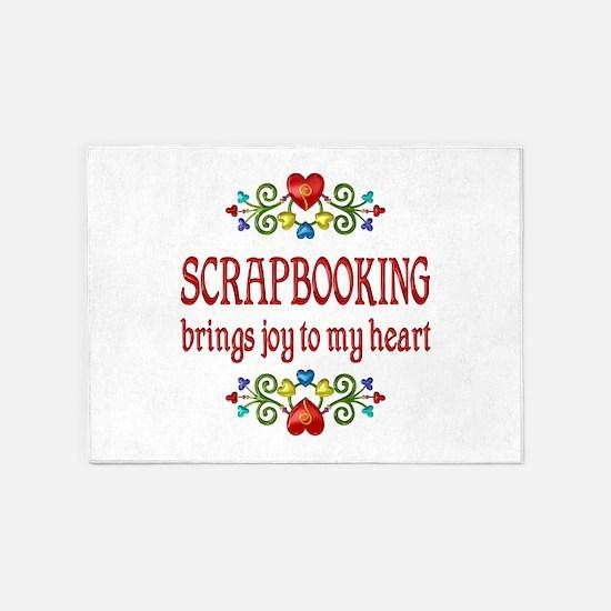 Scrapbooking Joy 5'x7'Area Rug