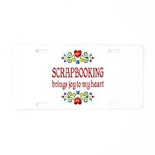 Scrapbooking Joy Aluminum License Plate