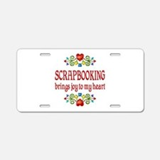 Scrapbooking Joy Aluminum License Plate
