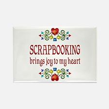 Scrapbooking Joy Rectangle Magnet