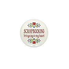 Scrapbooking Joy Mini Button (10 pack)