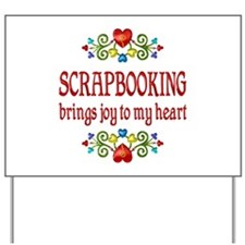 Scrapbooking Joy Yard Sign
