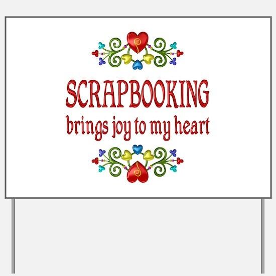 Scrapbooking Joy Yard Sign