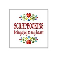 "Scrapbooking Joy Square Sticker 3"" x 3"""