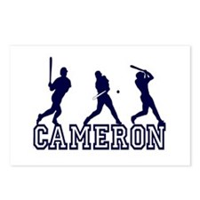 Baseball Cameron Personalized Postcards (Package o