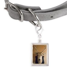 Stuffed deer head hanging o Small Portrait Pet Tag