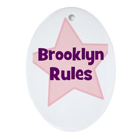 Brooklyn Rules Oval Ornament