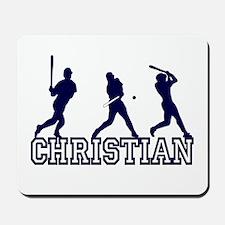 Baseball Christian Personalized Mousepad