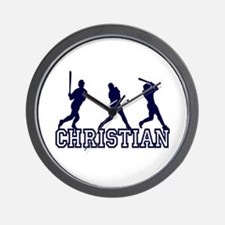 Baseball Christian Personalized Wall Clock