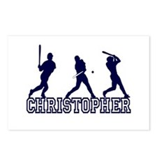 Baseball Christopher Personalized Postcards (Packa