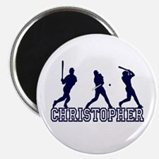 """Baseball Christopher Personalized 2.25"""" Magnet (10"""
