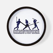 Baseball Christopher Personalized Wall Clock