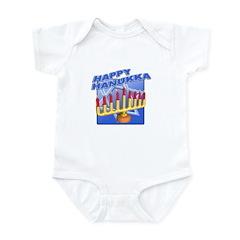 Happy Hanukka Menora Infant Bodysuit