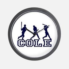 Baseball Cole Personalized Wall Clock