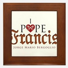 Pope Francis Framed Tile