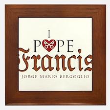 Pope Francis Framed Tile