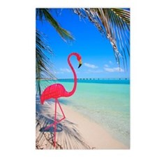 Pink flamingo decoration  Postcards (Package of 8)