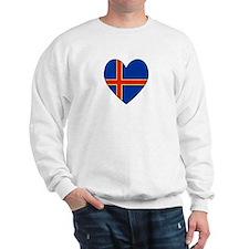 Aland Island Flag Heart Sweatshirt