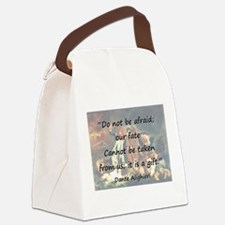 Do Not Be Afraid - Dante Canvas Lunch Bag