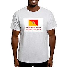 Happy Sicilian Grandpa Ash Grey T-Shirt