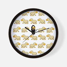 A Sheep with Attitude Wall Clock