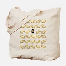 A Sheep with Attitude Tote Bag