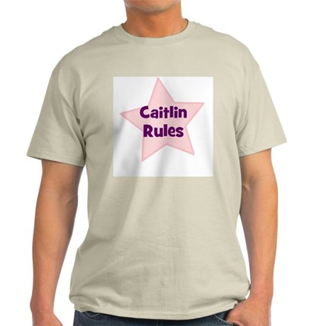 Caitlin Rules Ash Grey T-Shirt