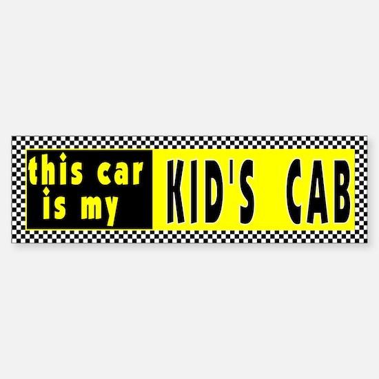 Kid's Cab Bumper Bumper Bumper Sticker