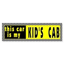 Kid's Cab Bumper Bumper Sticker