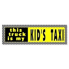 Kid's Taxi Bumper Bumper Sticker