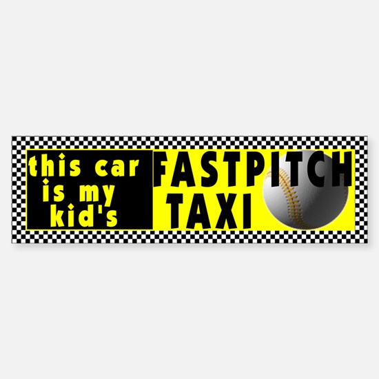 Fastpitch Softball Bumper Bumper Bumper Sticker