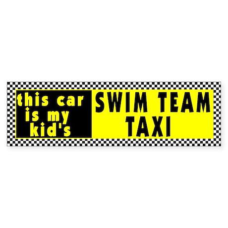 Swim Team Bumper Sticker