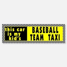 Baseball Taxi Bumper Bumper Bumper Sticker